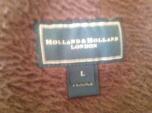 Vintage Holland & Holland olive green heavy fleece /top
