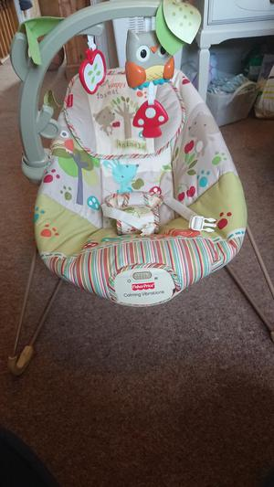 Fisher price calming vibrations bouncer chair