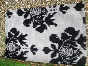 Grey and black rug