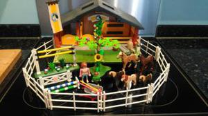 Playmobil toy horse stables, people and accessories