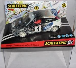 "SCALEXTRIC  FORD FOCUS WRC ""EFFECT NIEVE"" IRIDIUM BEN"