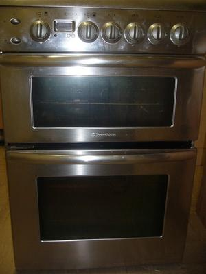 Silver Scandinova standdy 4 burner gas cooker with oven and grill for sale