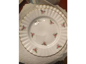 Vintage Denbro Rosebud fine bone China Dinner Service in