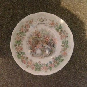 X2 Royal Doulton Tea Plates (Winter & Summer)