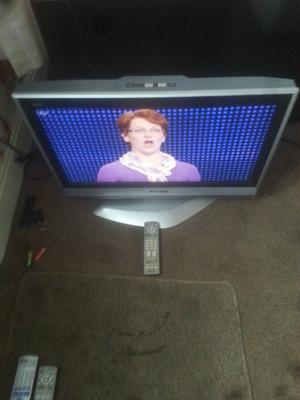 """for sale panasonic 26""""; widescreen hd tv with freeview £30"""
