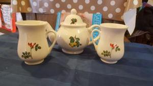 tea pot and two cups