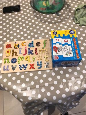 ABC children's puzzle and abc match game