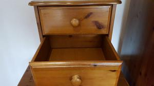 Bedroom Pine chest of drawers x 3