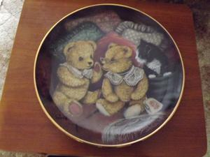 Cat and Teddy Bear Display Plates