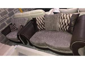 DFS Albion suite large 2 seater sofa and Cuddler chair in