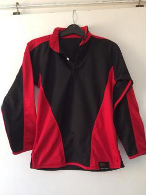 "Falcon School sports black/ red top size """