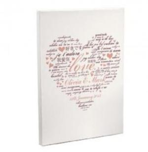 I love you canvas personalised
