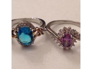 Ladies Jewellery Sterling Silver & Purple Amethyst & C.Z