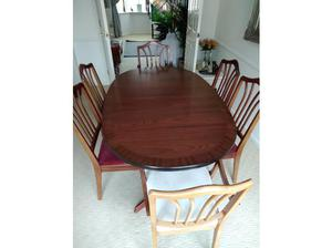 Dining table and six chairs in Barnsley