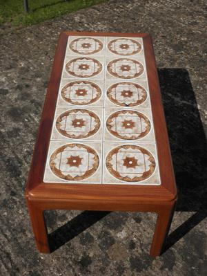G Plan Occasional Table / Coffee Table - 10 Ceramic tiled to