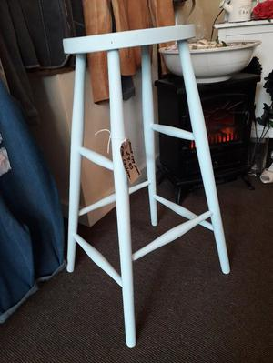 Lovely tall stool painted duck egg with chalk paint