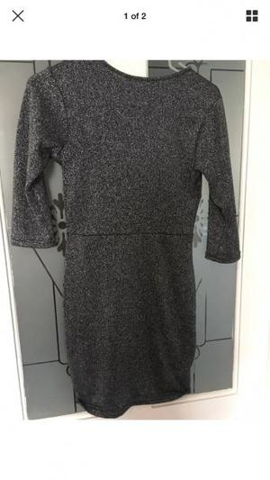 Size 8 glittery charcoal dress. Worn once.