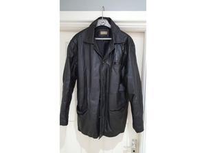 Black Leather Jacket 'Tyler' Vintage Style in Clacton On Sea
