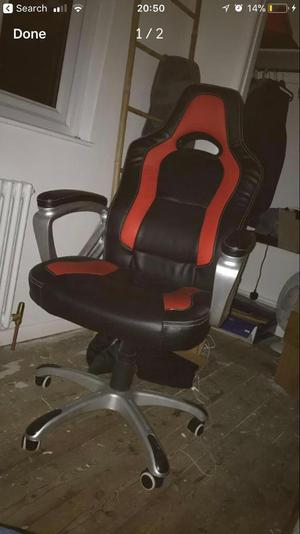 Black/red gaming chair