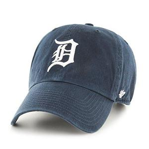 MLB Detroit Tigers Clean Up Adjustable Cap (Navy) (For