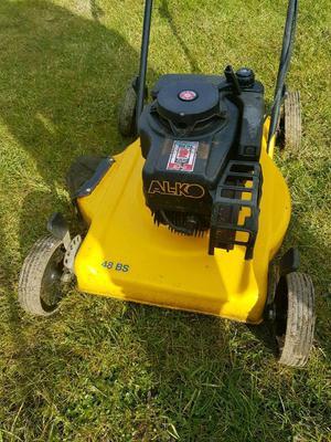 petrol lawnmower lawn mower