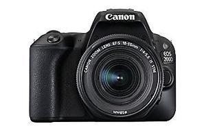Canon EOS 200D Black with EF-S mm f/ III Lens