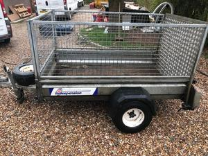 Indespension 8'x4' Caged Trailer with Ramp and Cover