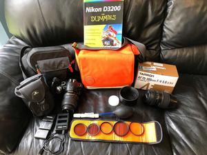 Nikon D DSLR BODY, 2 lenses, cases, filters and more!