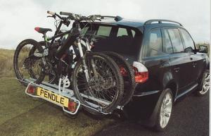 Pendle heavy duty Bike Rack to take 2 Electric Bikes