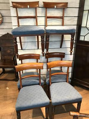 Set of 6 Victorian dinning chairs