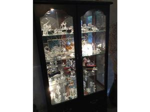 Solid wood Display cabinet with lights in Havering