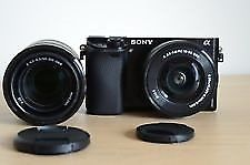 Sony Alpha A Digital Camera - Black (Kit w/ mm & mm Lens) Used, in mint condition