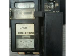 vintage 50p slot electric meter box fully working in
