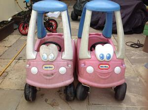 2 x Little Tikes Pink Cozy Coupes