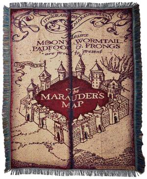 Harry Potter Marauders Map Woven Tapestry Throw Blanket Bed