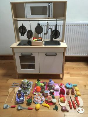 Ikea Duktig Toy Kitchen and accessories