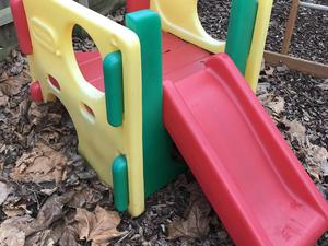 Little tikes climber cube with slide and rocket seasaw