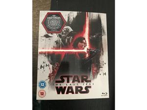 Star Wars last Jedi limited edition sleeve 2 disc blu ray