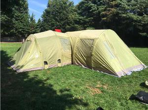 Vango Icarus 800 Air Beam 8 Man Tent and Porch plus loads of