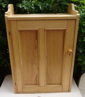 Vintage Stripped Pine Wooden Cabinet
