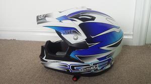 full face with visor road safe motocross motorbike helmet - as new. £30 with bag