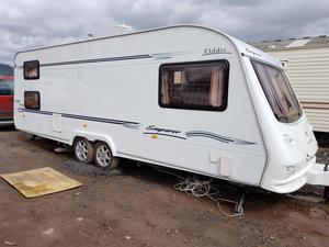 in good condition touring caravan