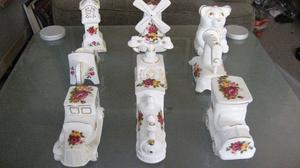 9 pcs Vintage fine bone china Cottage Rose porcelain set