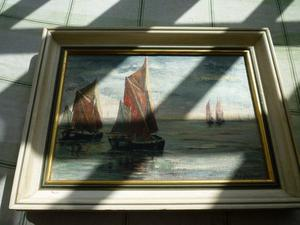 M A Gauntlett - Oil on Canvas - Boats