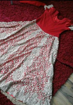Red heavy dress