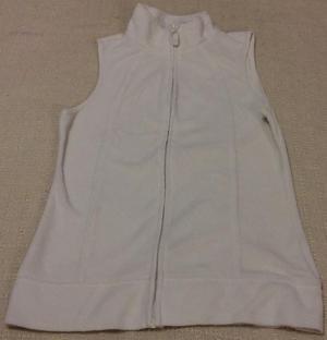 F&F Ladies Cream Fleece Gilet/Body Warmer Size 6
