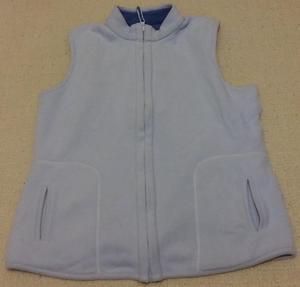 Ladies Blue Reversible Fleece Gilet/Body Warmer Size  a