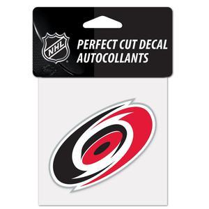 NHL Carolina Hurricanes Team Logo Perfect Cut Decal 4 x
