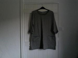 Next grey and black striped sweatshirt for sale