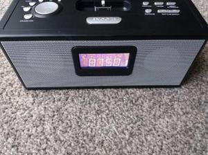 RED Alarm clock Radio with Docking station